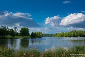 Kiessee, Abendlicht und Wolken, G?ttingen, Deutschland