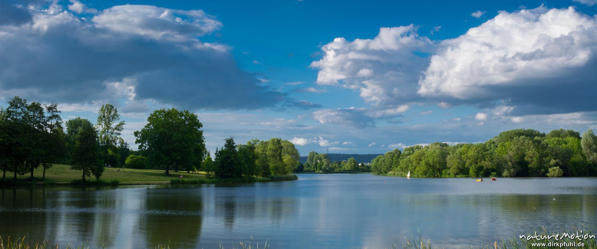 Kiessee Göttingen, Abendlicht und Wolken, G?ttingen, Deutschland