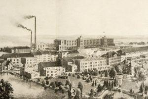 Gesamtansicht der Hermann Levin G.m.b.H Wollwaren-Fabrik